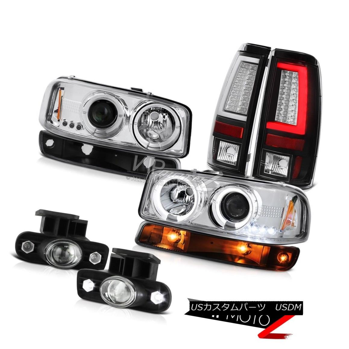 ヘッドライト 99-02 GMC Sierra Tail Lights Parking Light Fog Headlights OLED Prism