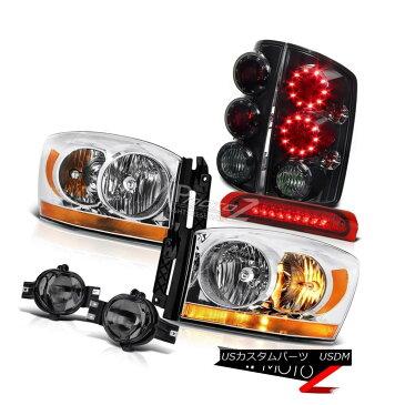 ヘッドライト 2006 Ram 3500 Headlights Smokey Fog Lights Red Roof Cargo Light Rear Brake LED 2006 Ram 3500ヘッドライトスモーキーフォグライトレッドルーフカーゴライトリアブレーキLED