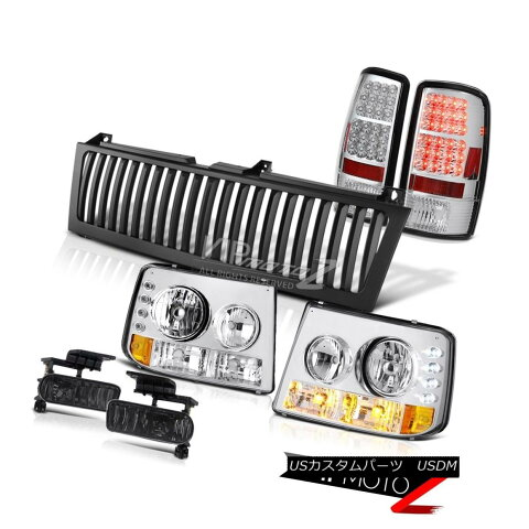 ヘッドライト 2000-2006 Chevy Suburban Signal Headlamp Chrome Tail Lights Foglamp Black Grille 2000-2006シボレー郊外信号ヘッドランプクロームテールライトフォグライトブラックグリル