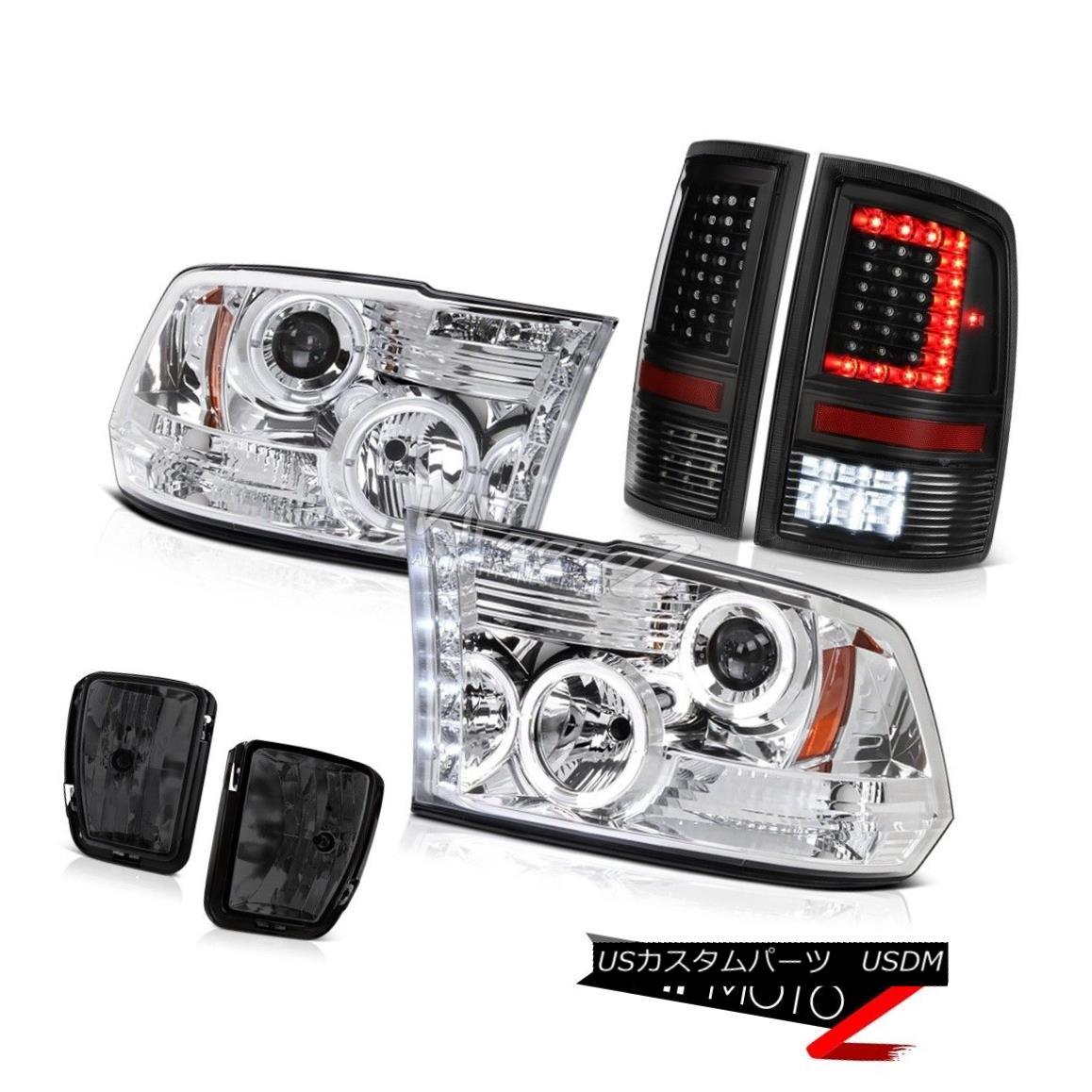 ヘッドライト 13-17 RAM 1500 Nighthawk Black Tail Light Fog Lamp Sterling Chrome Head Assembly 13-17 RAM 1500ナイトホークブラックテールライトフォグランプスターリングクロムヘッドアセンブリ画像