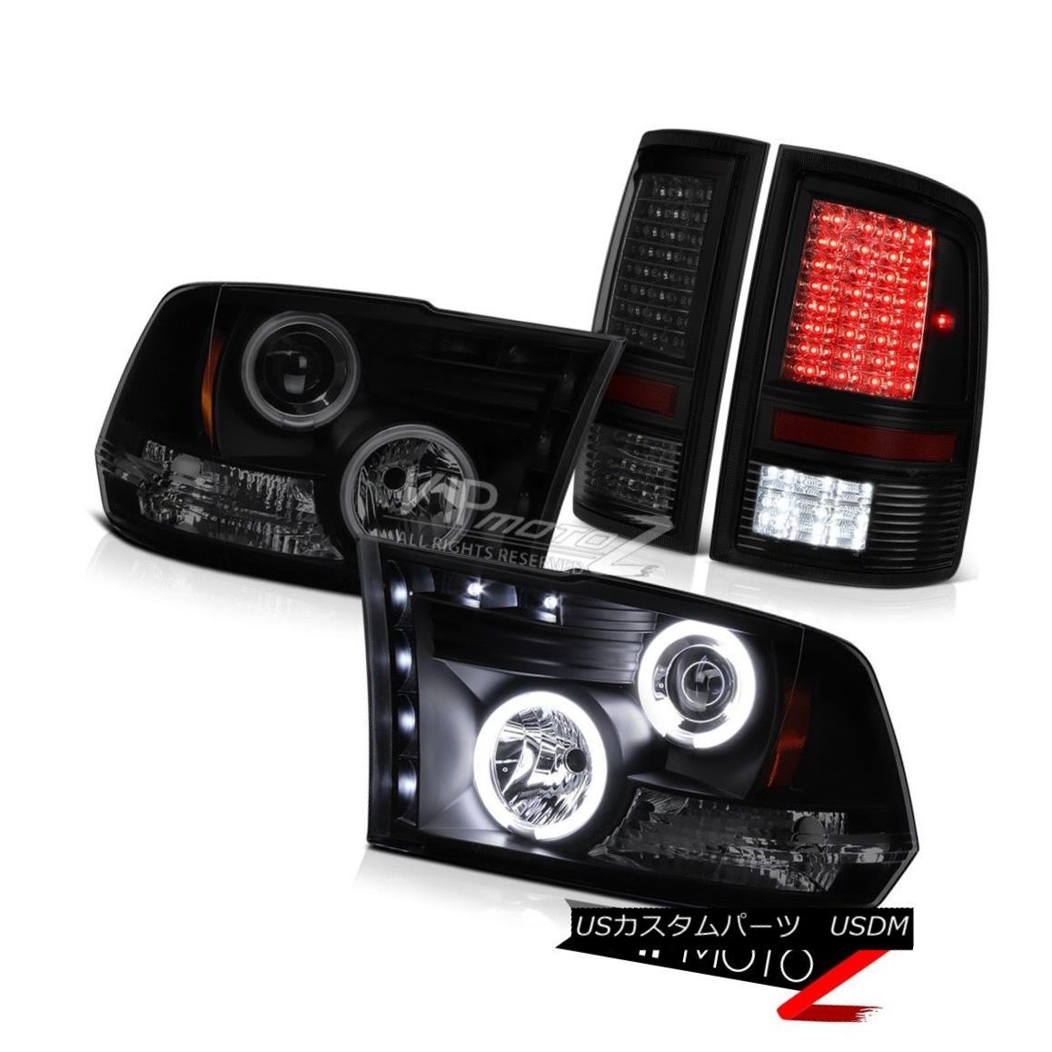 1999-2004 Grand Cherokee Halo Projector LED Headlights Glossy Black+H1 Slim HID
