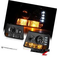 ヘッドライトTintedSignalHeadlightsClearTailLightsFogHighBrakeLED00-06Tahoe5.3L着色信号ヘッドライトクリアテールライトフォグハイブレーキLED00-06タホー5.3L