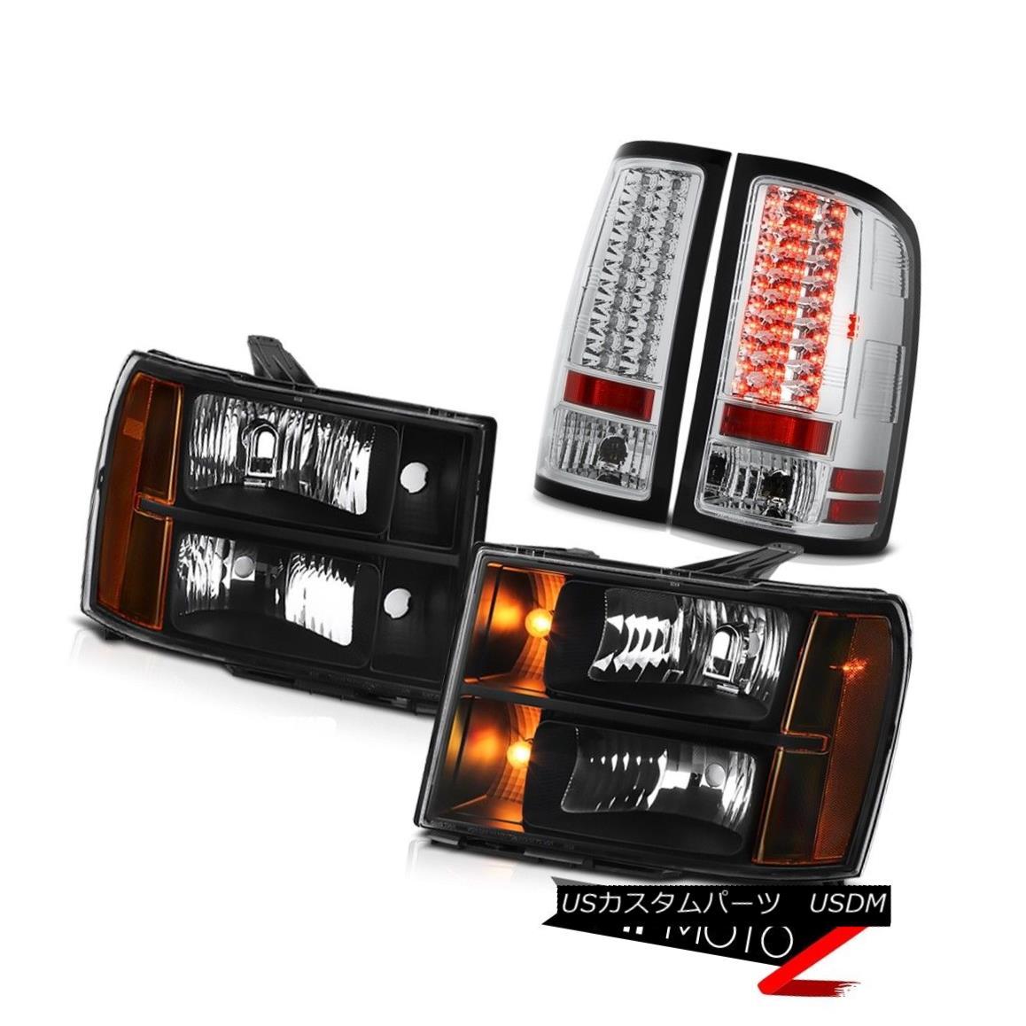ヘッドライト 2008-2014 Sierra 2500 SL Tail Lights Nighthawk Black Headlamps LED SMD Assembly 2008-2014 Sierra 2500 SLテールライトナイトホークブラックヘッドランプLED SMDアセンブリ画像