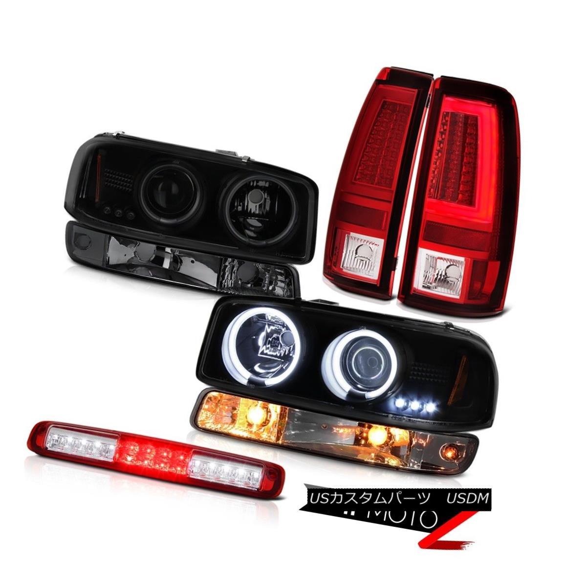 ヘッドライト 99-06 Sierra 4.3L Bloody Red Tail Lights Third Brake Light Bumper Headlamps LED 99-06シエラ4.3Lブラッディレッドテールライト第3ブレーキライトバンパーヘッドランプLED画像