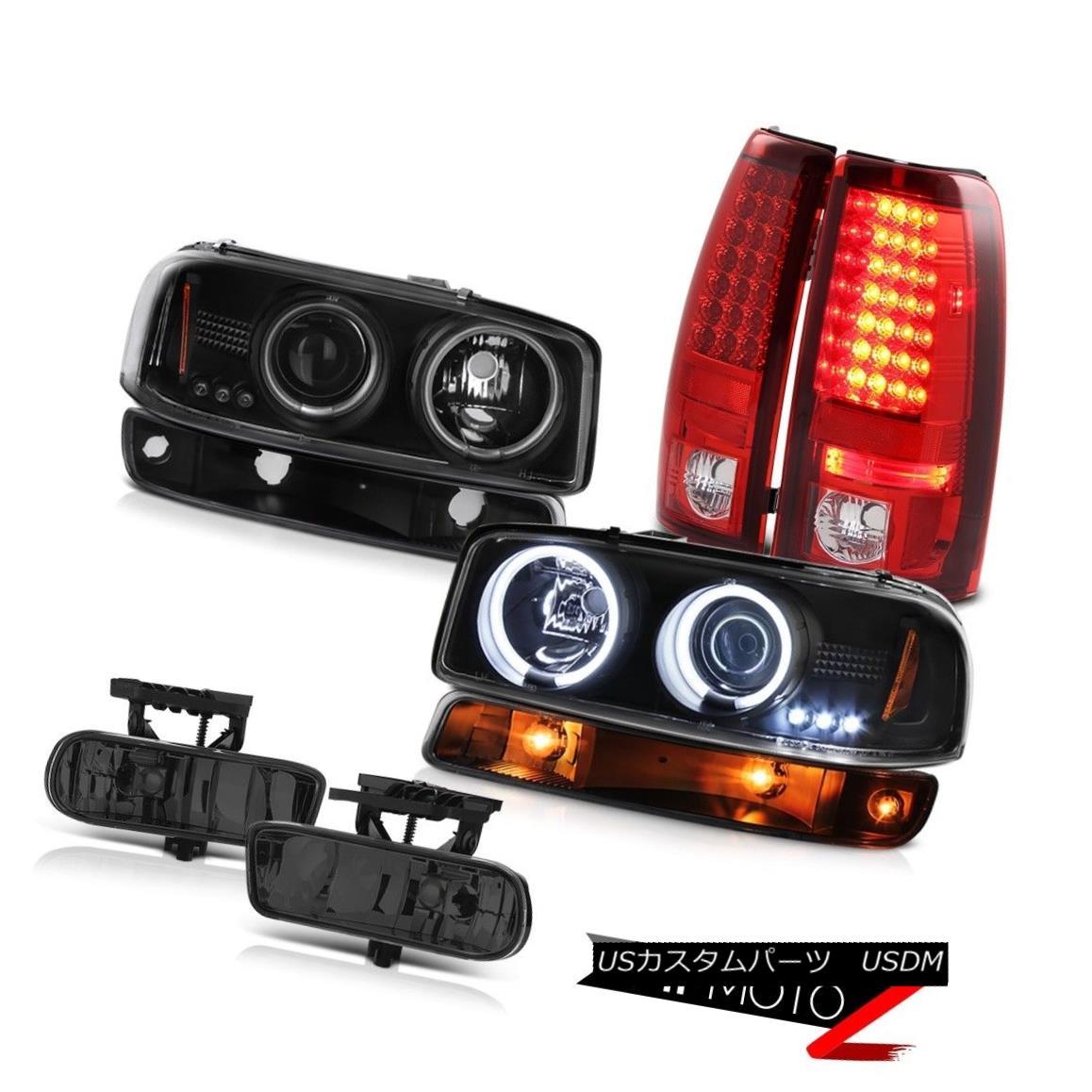ヘッドライト 99-02 Sierra C3 Fog lamps bloody red led tail black parking lamp ccfl Headlights 99-02シエラC3フォグランプピュアレッドテールブラックパーキングランプccflヘッドライト画像