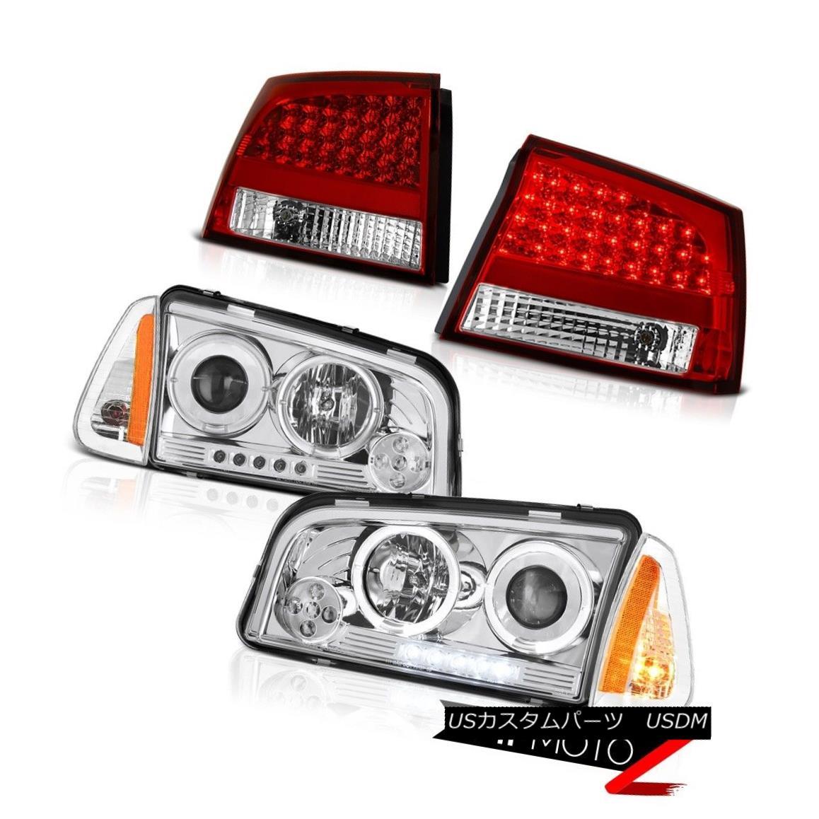 ヘッドライト 06-08 Dodge Charger Super Bee Bloody red tail brake lamps turn signal headlights 06-08ダッジチャージャースーパービーブラッディー赤いテールブレーキランプ信号ヘッドライトを回す画像