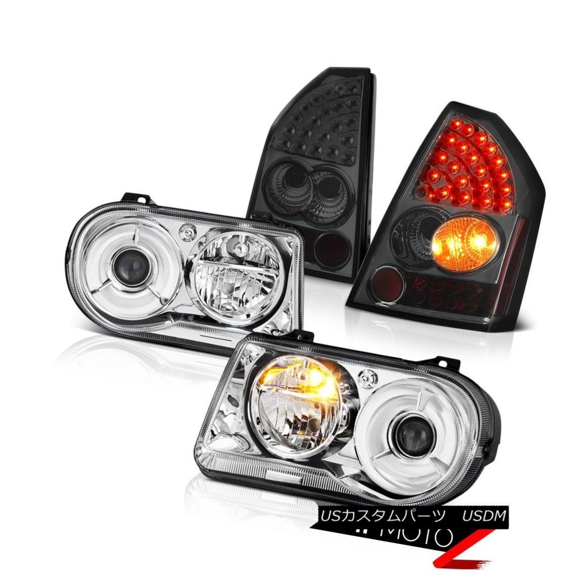 2005 2006 2007 Chrysler 300c Srt8 Clear Black Headlights: ヘッドライト Euro Headlights Pair New Smoke LED オンライン Tail