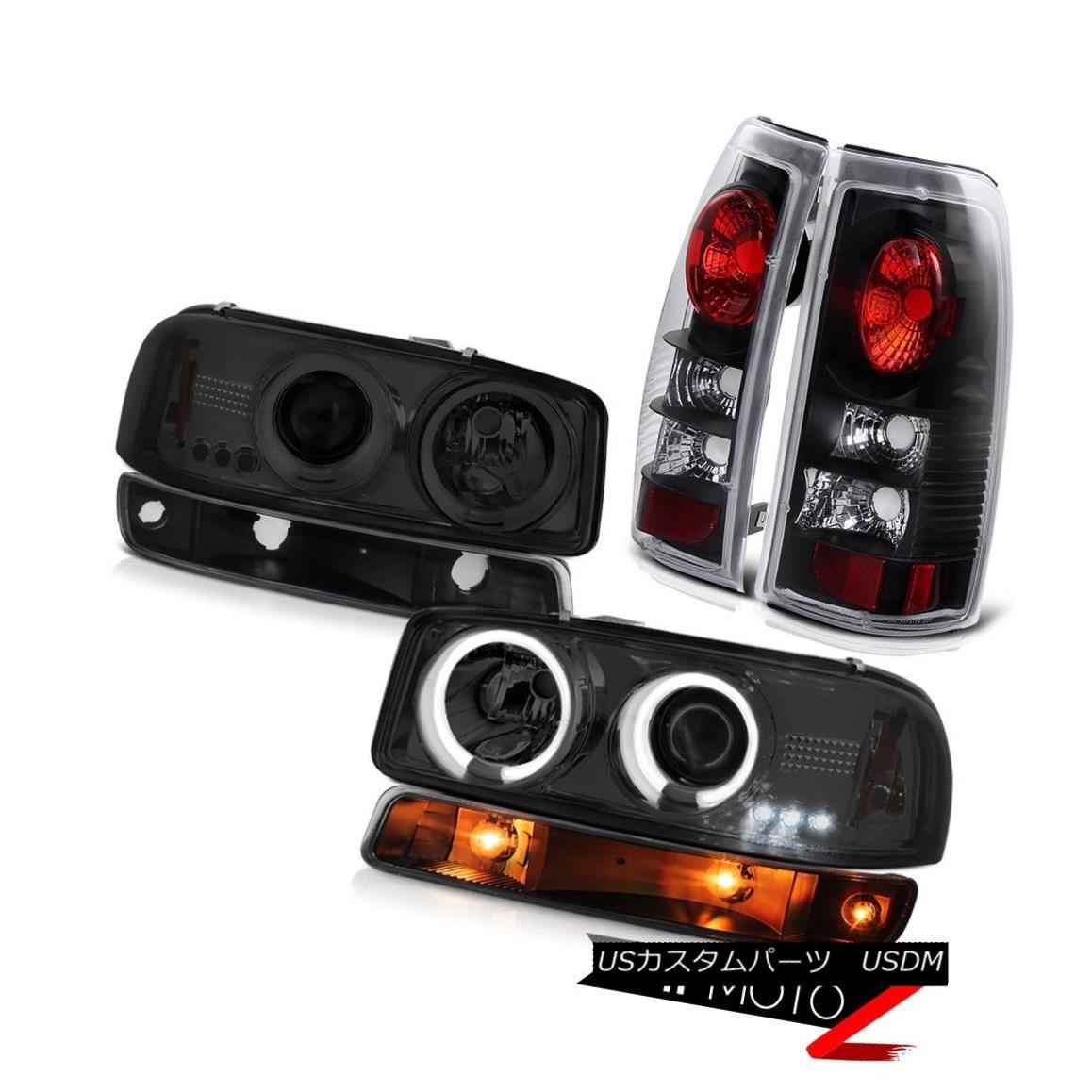 ヘッドライト 99 00 01 02 GMC Sierra Nighthawk black tail lights bumper lamp ccfl headlamps 99 00 01 02 GMC Sierra Nighthawkブラックテールライトバンパーランプccflヘッドランプ画像