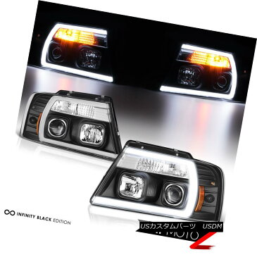 ヘッドライト 04-08 Ford F150 Fiber Optic Neon Tube U-Bar C-Shape LED DRL Projector Headlight 04-08 Ford F150光ファイバーネオンチューブU字棒C字型LED DRLプロジェクターヘッドライト