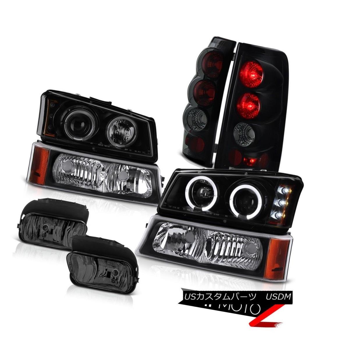 ライト・ランプ, ヘッドライト  03-06 Silverado LTZ SINISTER BLACK Headlight Halo Altezza Tail Light Foglights 03-06 Silverado LTZ SINISTER BLACKHalo Altezza