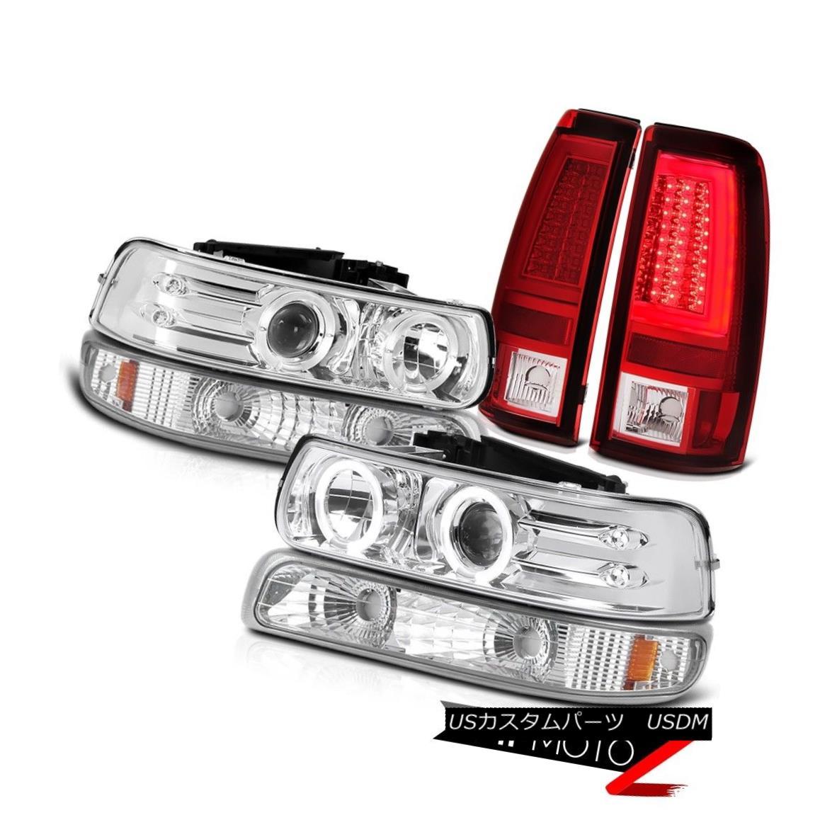 ヘッドライト 99-02 Silverado 1500 Bloody Red Taillamps Bumper Lamp Headlights Crystal Lens 99-02 Silverado 1500 Bloody Red Taillampsバンパーランプヘッドライトクリスタルレンズ画像
