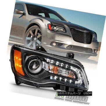 ヘッドライト 2011-2014 Chrysler 300 Replacement Halogen LED DRL Black Passenger Side Headlamp 2011-2014クライスラー300交換用ハロゲンLED DRLブラック乗用サイドヘッドランプ
