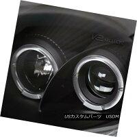ヘッドライトJDMBlack00-05EclipseDualHaloProjectorHeadlights+White6-LEDDRLFogLampJDMブラック00-05Eclipseデュアルハロープロジェクターヘッドライト+Whi6-LEDDRLフォグランプ