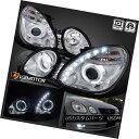 ヘッドライト 1998-2005 Lexus GS300/GS400 SMD LED+Halo Pro...