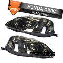 ヘッドライト Fits 99-00 Honda Civic JDM Headlights Head L...
