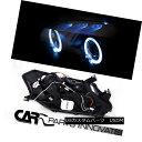 ヘッドライト Fit Honda 00-03 S2000 S2K AP1 Black Halo Projector Headlights+6-LED Fog Lamps フィットホンダ00-03 S2000 S2K AP1ブラックハロープロジェクターヘッドライト+ 6-L EDフォグランプ 2
