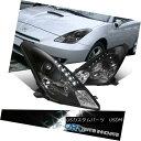 ヘッドライト For 00-05 Toyota Celica Black LED Strip Proj...