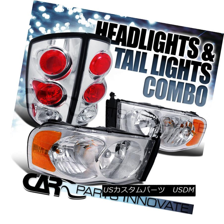 ライト・ランプ, ヘッドライト  02-05 Ram 1500 2500 3500 Chrome Crystal HeadlightsAltezza Tail Lamps 02-05 Ram 1500 2500 3500 Alt ezza