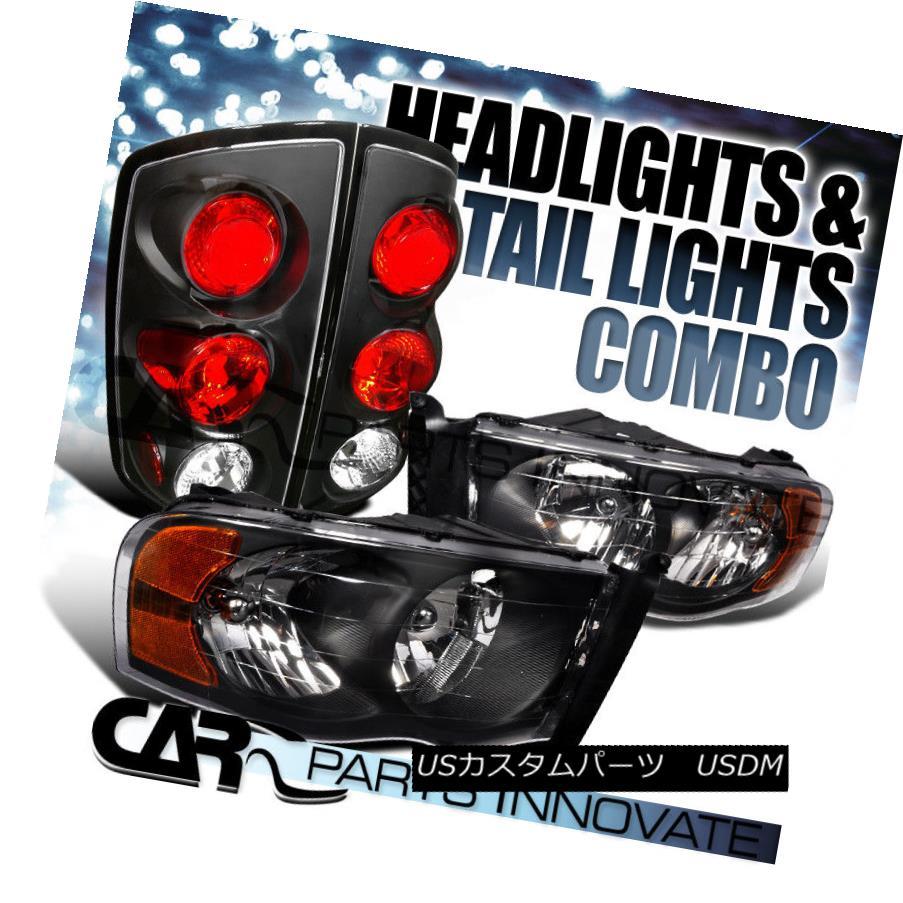 ライト・ランプ, ヘッドライト  02-05 Ram 1500 2500 3500 Black Crystal HeadlightsAltezza Tail Lamps 02-05 Ram 1500 2500 3500 Alt ezza
