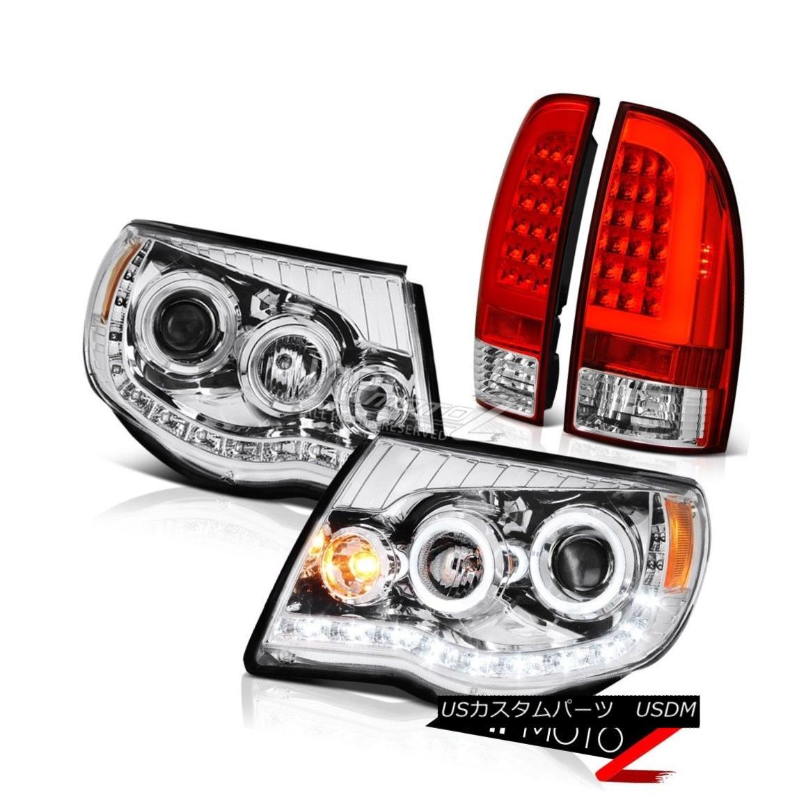 ヘッドライト 2005-2011 Toyota Tacoma Bloody Red Tail Euro Clear Head Lamps Replacement Pair 2005-2011 Toyota Tacoma Bloody Red Tailユーロクリアヘッドランプ交換ペア画像