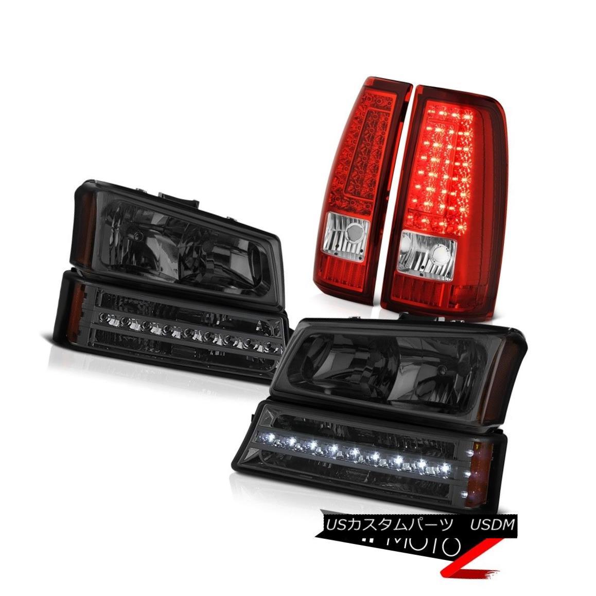 ヘッドライト 2003-2006 Silverado Bloody Red Tail Brake Lamps Smoked Parking Lamp Headlights 2003年 - 2006年シルヴェラド・ブラッディ・レッド・テール・ブレーキ・ランプスモーク・パーキング・ランプヘッドライト画像