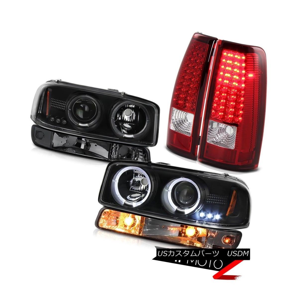 ヘッドライト 99-06 Sierra 1500 Bloody red taillamps phantom smoke parking lamp headlamps LED 99-06シエラ1500血まみれの赤いテールランプファントム煙る駐車場のランプヘッドランプLED画像