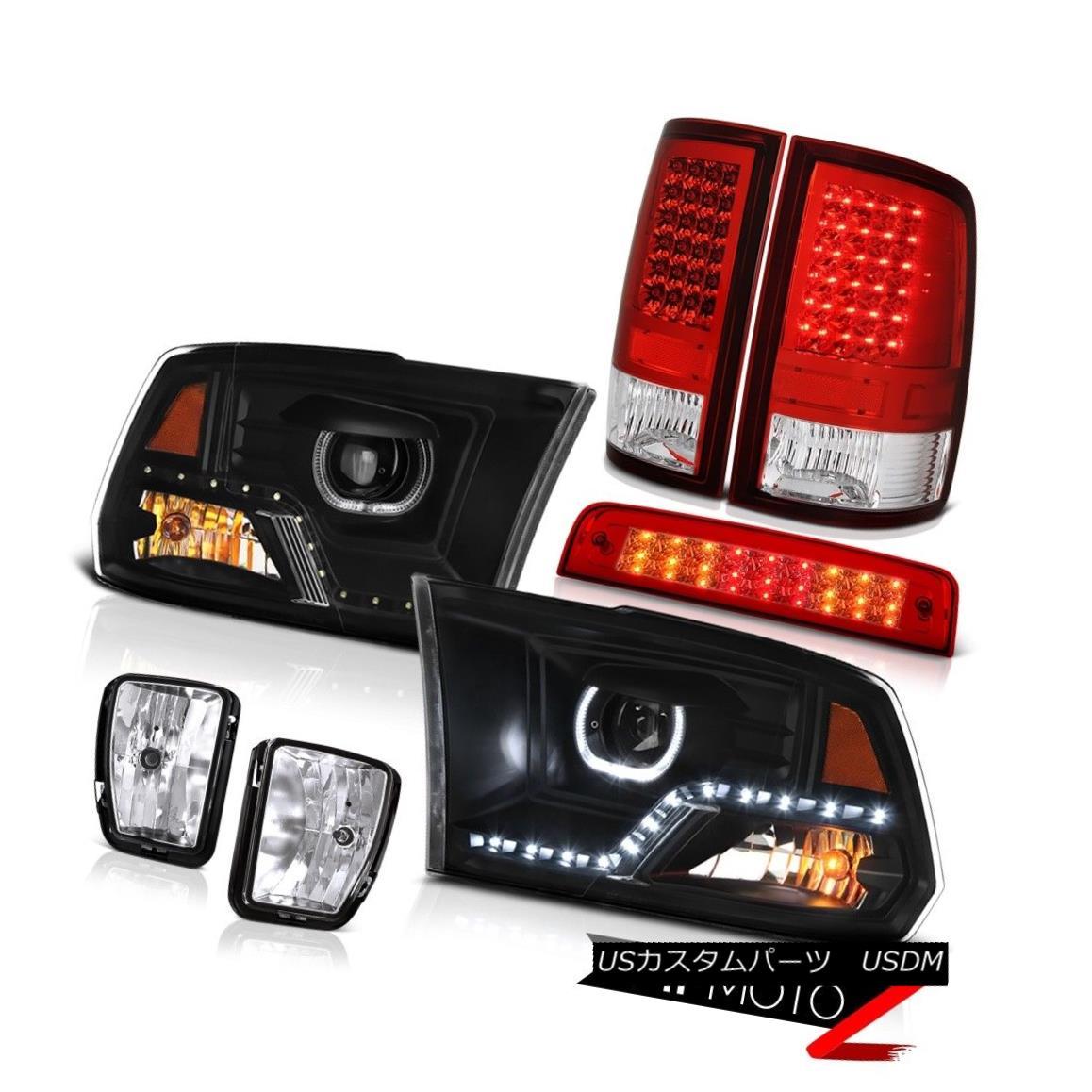 ヘッドライト 13-18 RAM 1500 Headlight Bloody Red Brake Light Tail Fog Light Assembly SET PAIR 13-18 RAM 1500ヘッドライトブラッディレッドブレーキライトテールフォグライトアセンブリSET PAIR画像