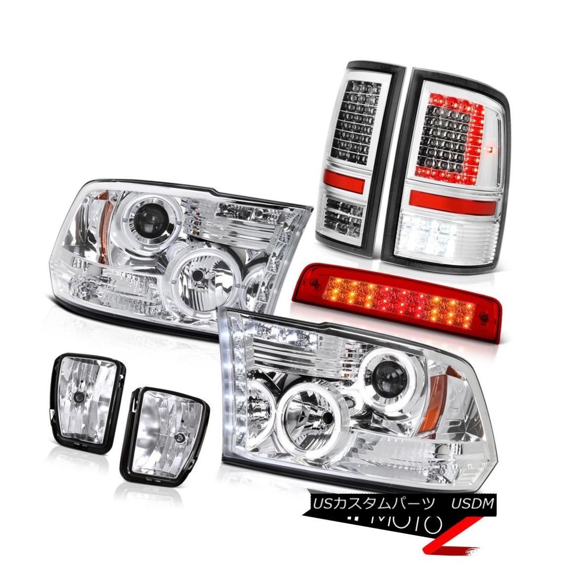ヘッドライト 13-18 RAM 1500 Tail Lamps Bloody Red 3rd Brake Light Driving Headlamp SET PAIR 13-18 RAM 1500テールランプブラッディーレッド第3ブレーキライトヘッドランプSET PAIR画像