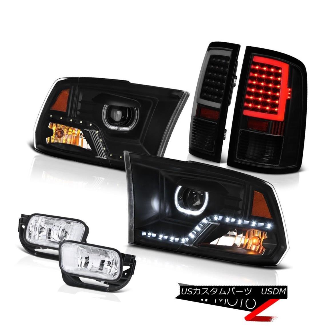 ヘッドライト 09-18 Dodge RAM 3500 Tail Lights Nighthawk Black Head Fog Lights Replacement SET 09-18ダッジRAM 3500テールライトナイトホークブラックヘッドフォグライト交換セット画像