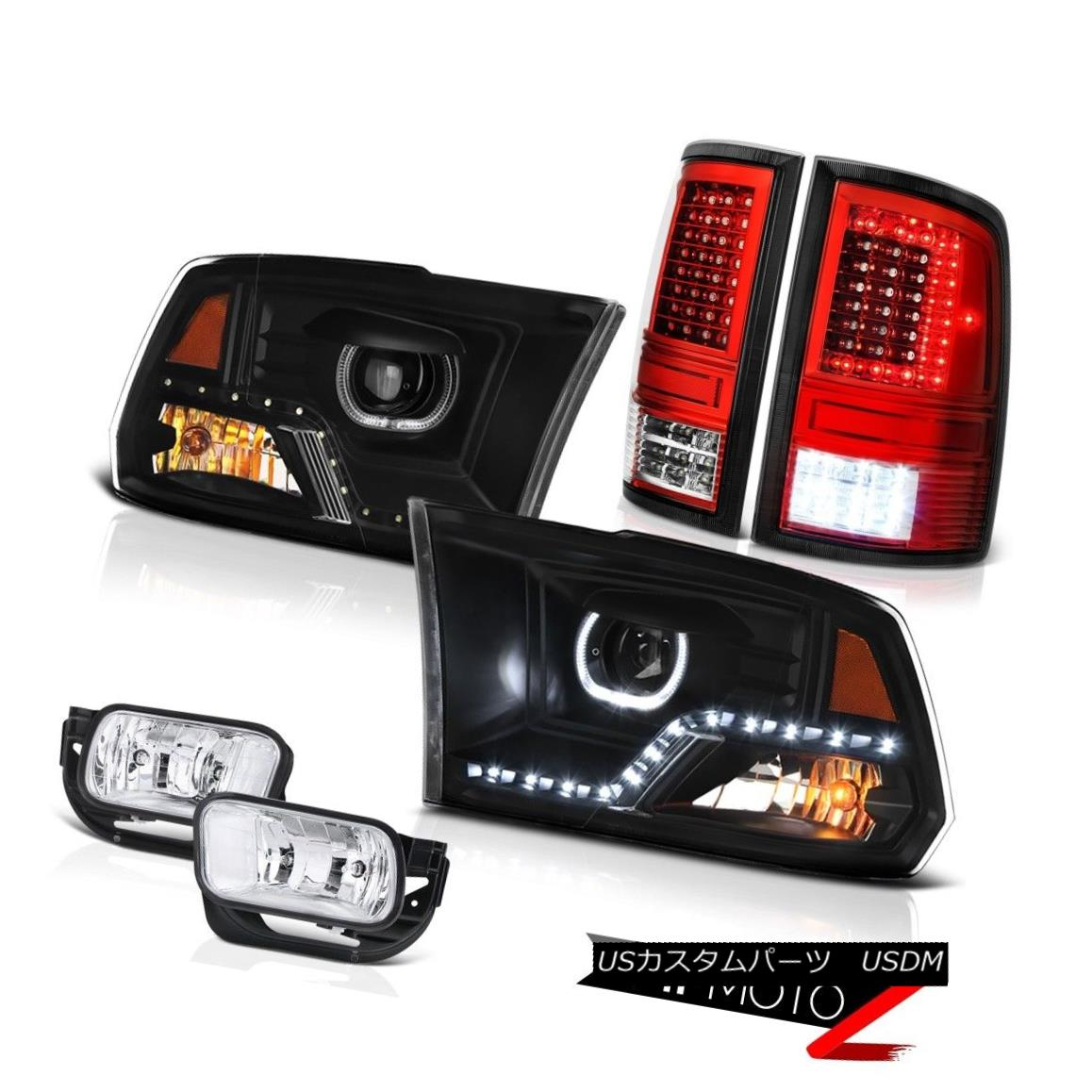 ヘッドライト 2010-2018 Dodge RAM 2500 3500 Bloody Red Tail Lamps DRL Headlamps Fog Light PAIR 2010-2018 Dodge RAM 2500 3500ブラッディレッドテールランプDRLヘッドランプフォグライトペア画像