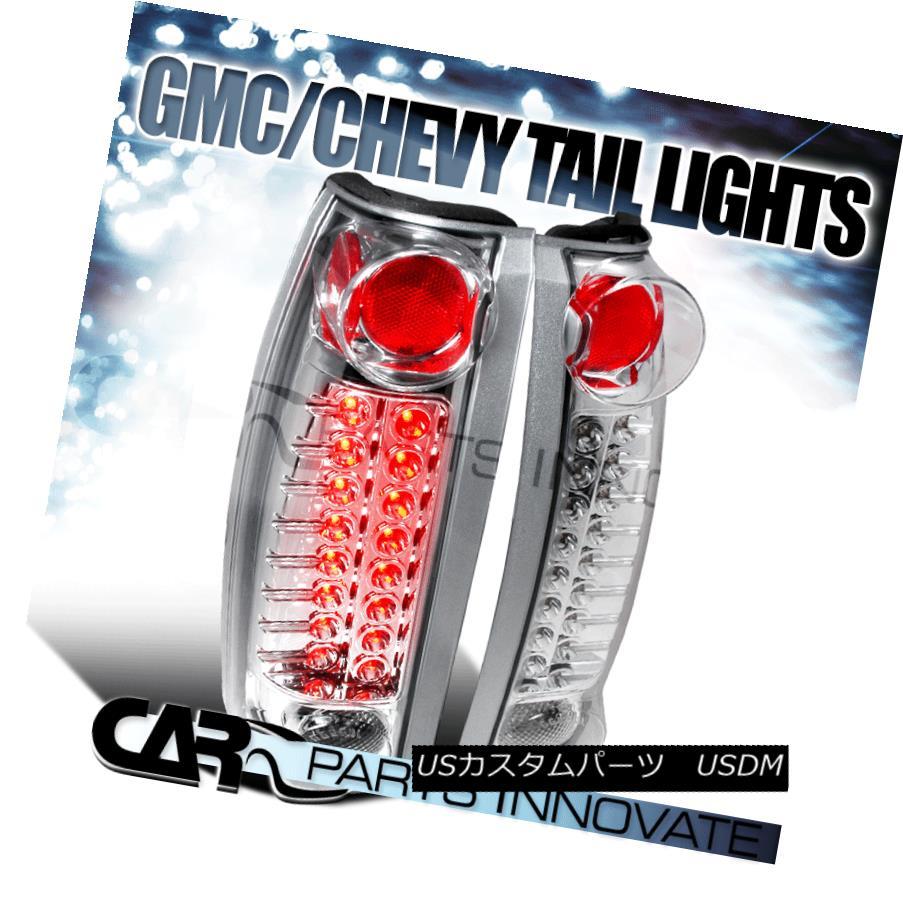 ライト・ランプ, ブレーキ・テールランプ  Chevy GMC CK C10 Silverado Blazer Tahoe LED Tail Light Rear Lamp Altezza Chrome GMC C K C10LED