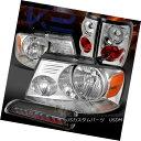 テールライト 04-08 Ford F150 Chrome Headlights+Tail Lamps...