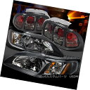 テールライト 1994-1998 Ford Mustang Black Headlight Corne...