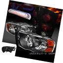 テールライト 02-05 Dodge Ram Headlights+Glossy Black Tail...