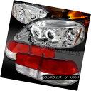 テールライト Fit 99-00 Civic Chrome Halo LED Projector He...