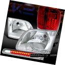 テールライト 1997-2003 Ford F150 Chrome Headlights+Clear LED 3rd Brake+Red LED Tail Lights 1997-2003 Ford F150 Chromeヘッドライト+ Cle ar LED第3ブレーキ+赤色LEDテールライト 1