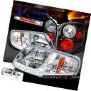 テールライト 97-00 F150 Chrome SMD DRL Headlights+Clear L...