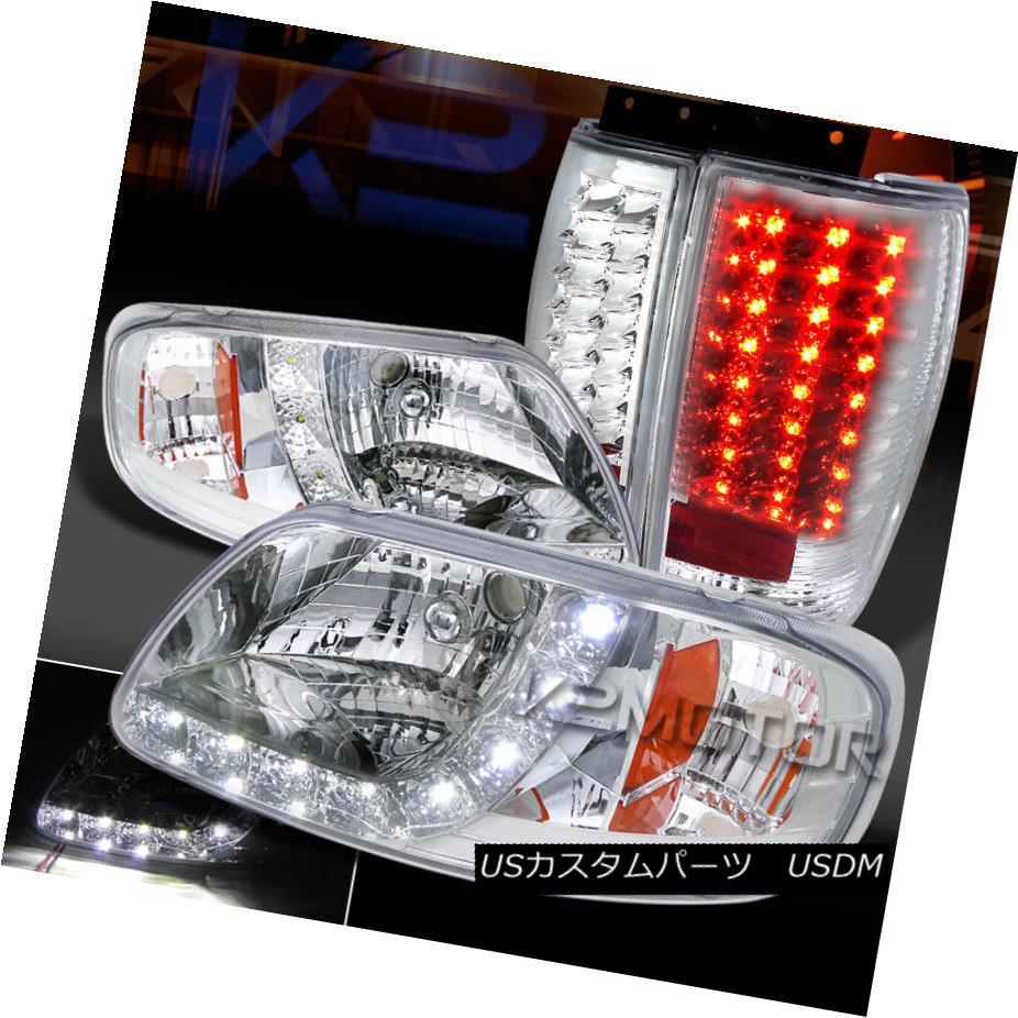 Chrysler 05-07 300 Black Housing LED Rear Tail Light Set Base Limited Touring