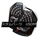 テールライト Chrysler 05-07 300C Black LED Rear Tail Ligh...