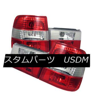 ライト・ランプ, ブレーキ・テールランプ  BMW 5-series 89-95 E34 Euro Style Red Clear Rear Tail Lights Set Brake Lamp BMW 589-95 E34