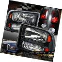 テールライト 1999-2004 Ford F250 Black Headlights FaceLif...