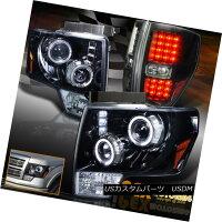 テールライト2009-2014FordF150HaloProjectorShinyBlackHeadlight+BrightLEDTailLight2009-2014フォードF150ハロープロジェクターシャイニーブラックヘッドライト+ブライトLEDテールライト