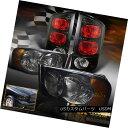 テールライト 02-05 Dodge Ram 1500 2500 3500 BlackOut Smok...
