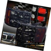 テールライト[Black-Out]2007-2013GMCSierra15002500HDSmokeHeadlights+LEDTailLights[ブラックアウト]2007-2013GMCSierra15002500HDスモークヘッドライト+LEDテールライト