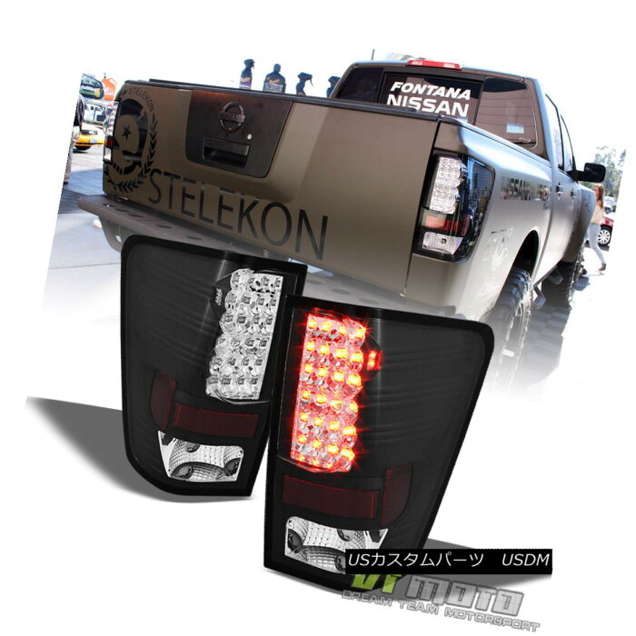 テールライト Black Fits 04-15 Titan Philips-Led Perform Tail Brake Lights Lamps Left+Right ブラックフィット04-15タイタン・フィリップス・リード・テール・ブレーキ・ライトランプ左+右