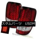 テールライト For 00-06 Chevy Suburban Red Clear LED Tail ...