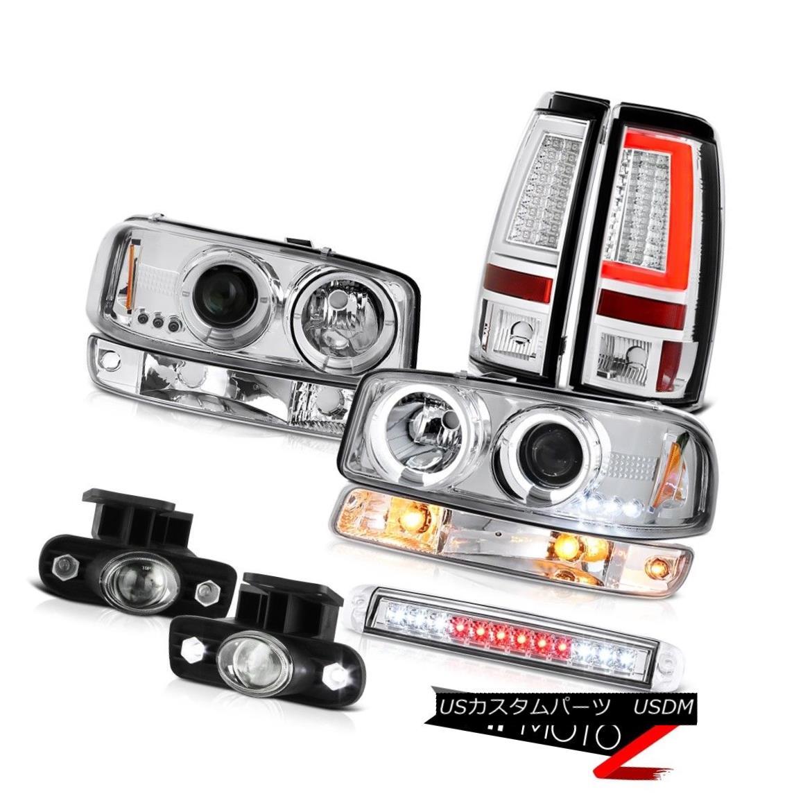 ライト・ランプ, ブレーキ・テールランプ  99 00 01 02 Sierra 6.6L Tail Lights Roof Cab Lamp Parking Fog Headlamps Halo Rim 99 00 01 02 Sierra 6.6LHalo Rim
