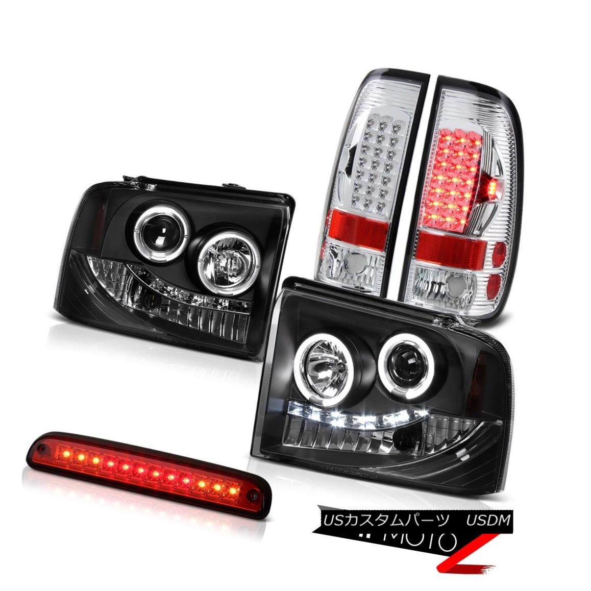 LED 3rd Brake For 02-05 Ram Black Halo Pro Headlights LED Tail Lights Signal