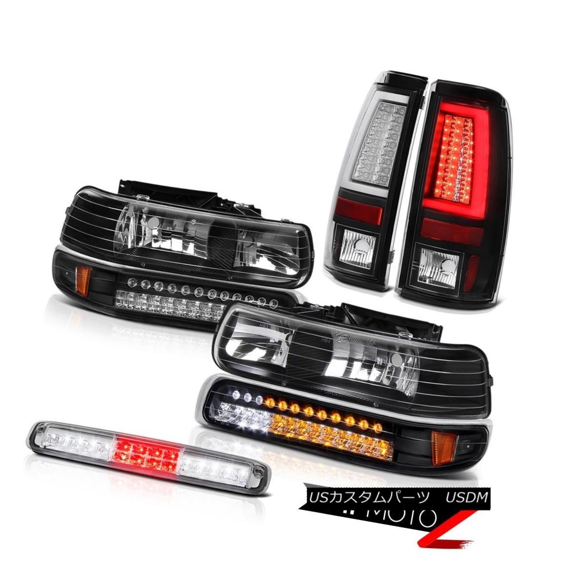 テールライト 99-02 Silverado 4.3L Nighthawk Black Tail Brake Lamps Third Lamp Headlamps LED 99-02 Silverado 4.3Lナイトホークブラックテールブレーキランプ第3ランプヘッドランプLED画像