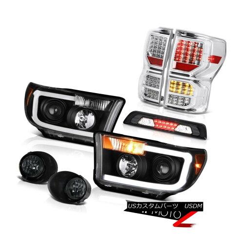 テールライト 07-13 Toyota Tundra SR5 Tail Lamps Headlamps Fog High Stop Light SMD Brightest 07-13トヨタトンドラSR5テールランプヘッドランプ霧ハイストップライトSMDブライト
